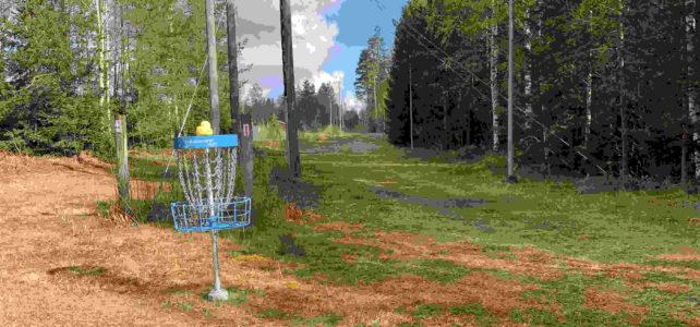 Frisbeegolfbane i Andebu